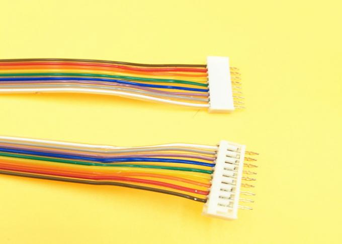 Electronic Flat Rainbow Ribbon Cable , 2.0mm Pitch Connector Flat Connector Cable