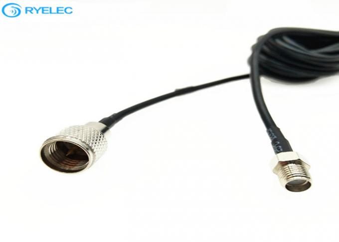 Nickel Plated Custom RF Cable Assemblies For GPS Antenna / RF Device 0-6 ghz