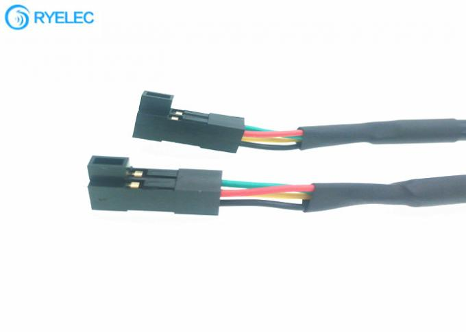 Both Ends Dupont Cable Connector Assembly 4 Pin 2.54mm Pitch Female To Female Connector