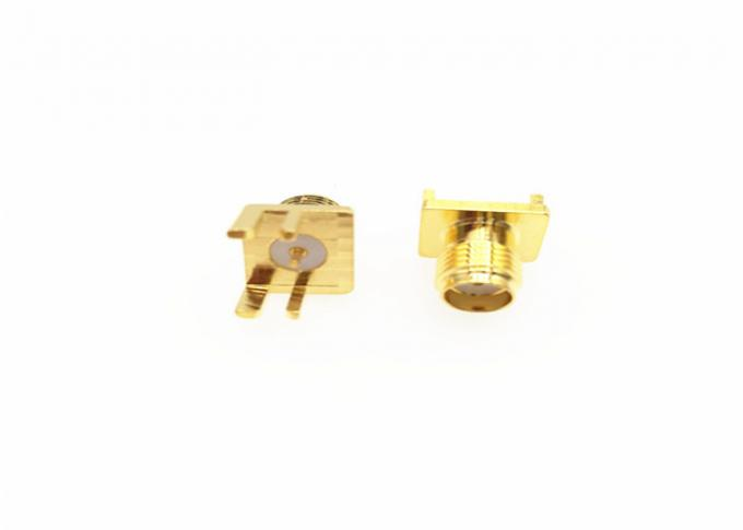 SMA Rf Cable Connector Female Jack Solder Edge PCB Straight Mounted Receptacle