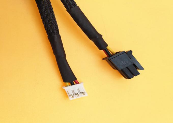 2*2p Molex 43025 Black Connector Micro Fit 3.0mm Pitch To 3pin Jst - Ph2.0 26awg Wire Harness