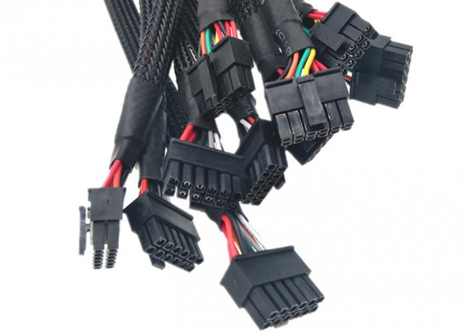 Micro Fit 3.0 Molex 43025-1200 To 2.1*5.5mm Power Jack Custom Wire Harness With PH 2.0-4 Pin 2 3 Pin Jst - Sm