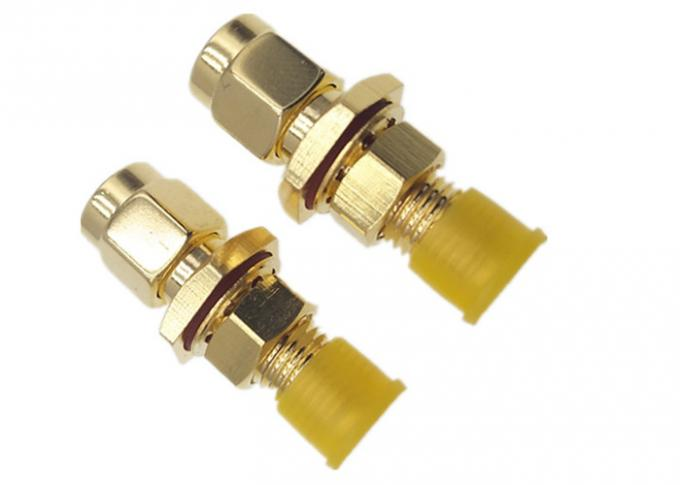 Male To Female Bulkhead Waterproof Sma To Rp Sma Adapter Straight Gold Plated