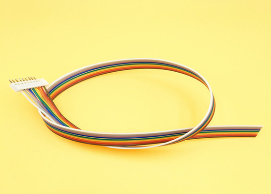 China Electronic Flat Rainbow Ribbon Cable , 2.0mm Pitch Connector Flat Connector Cable supplier
