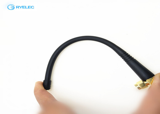 Indoor / Outdoor Flexible Passive RFID Antenna Right Angle SMA Male Available