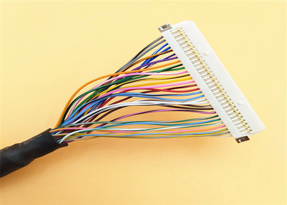 Led Lcd Converter Rainbow LVDS Cable Assembly Hirose 30 Pin Plug To 40 Pin DF13-40DP supplier