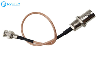 Mini Micro Bnc Male Q6 To Rear Bulkhead Mount Crimp Connection Bnc Female Rg316 Cable supplier