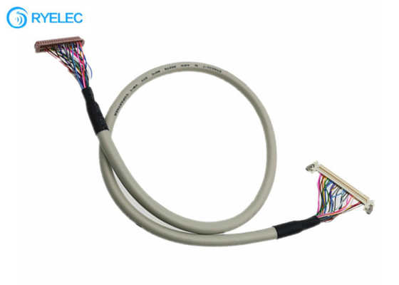 30pin Jae Fi-X30hl To 40pin Hrs Df13-40p 20276 30v Shield Lvds Cable For LCD Screen Panel supplier