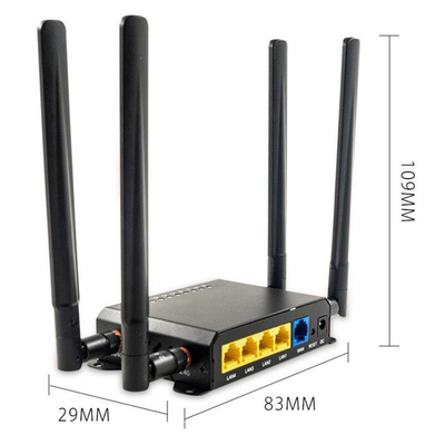 Long Range WE826-T2 4G Wifi 300mbps Openwrt Lte Router With Sim Slot supplier