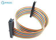 Double Row Fc-40 2.54mm 40 Pin Female Idc With 2651 28awg 1.27mm Flat Rainbow Cable
