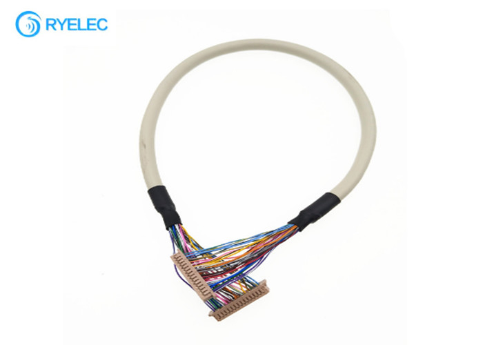 Round Grey Electronic LVDS Monitor Cable For LCD Controller Board 30 Pin supplier