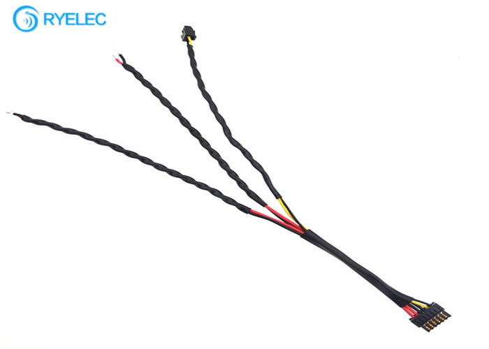 Twisted Custom Made Wiring Harness Molex 505565-0601 1.25mm Pitch To Molex 505565-0201