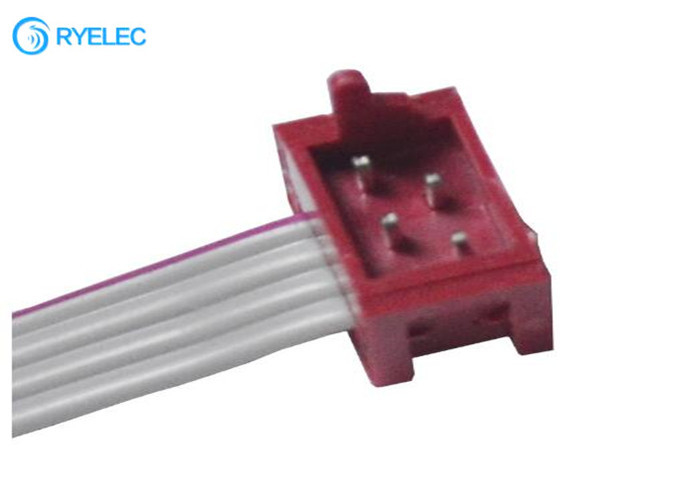 Micro Match Connector 1.27MM Red IDC Socket Male DIP SMT To 4 Pin Idc Falt Cable supplier
