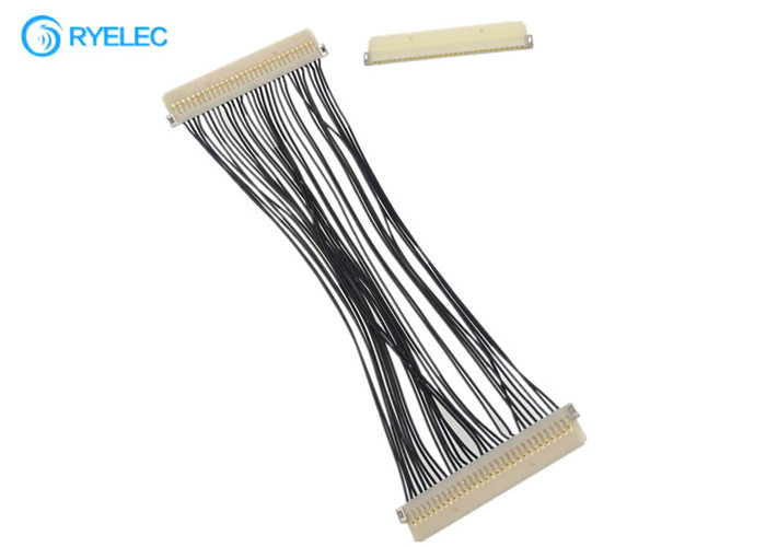 30 Pin Lvds Flex Cable DF19G - 30S Hirose 1.0mm Pitch To DF19G-30S For TV / DVD With 30awg