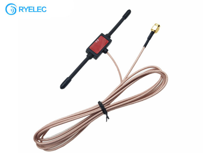 868MHZ T Shape End Fed Dipole Horn Sticking Antenna RG316 Cable With Sma Male Connector