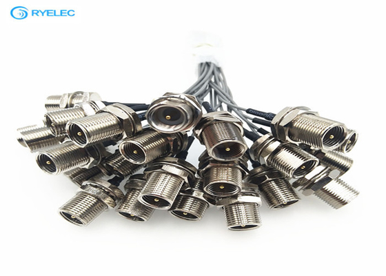 Gold  / Nickel Plating 1.13mm RF Coaxial Cable FME To UFL Connector Available
