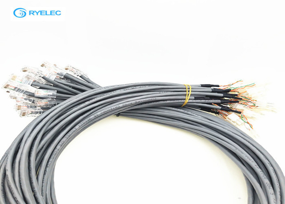 China RJ45 To Molex Plug Custom Cable Assemblies With 4.2mm Pitch Extension Cable factory
