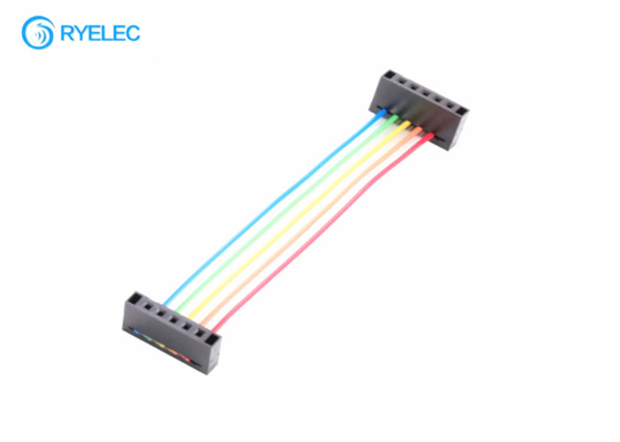 5pin single row idc 2.54mm pitch to idc2.54 wire to board colourful electronic harness