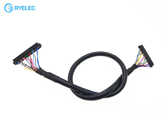 28AWG Round Electronic LVDS Cable Assembly For Display / Laptop / Computer
