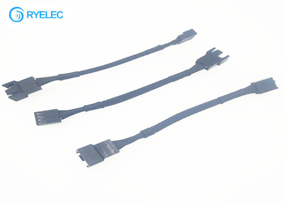 2.54mm Custom Wire Harness 2 Pin Male To Female Molex 2510 Connector With Braided Wire