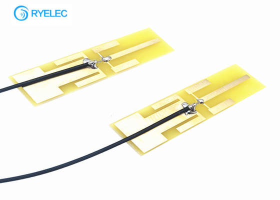 48*18mm Pcb Yellow Rectangle Wifi Aerial 2.4ghz 5.8ghz Dual Band Sma Connector