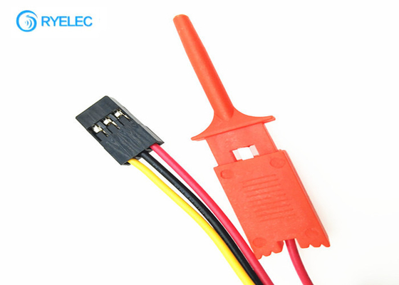 China 3 Pin 24AWG Wire Harness Dupont 2.54mm Female Connector To 3*1 Hooker With UL1007 Cable factory