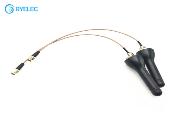Screw Hole Mount 4G LTE Antenna Black Explosion Proof Antenna For Industrial Control System