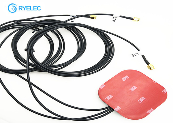China External Big Size 2* 4G LTE Antenna Glue Adhesive Combo Square With Right Angle Sma factory