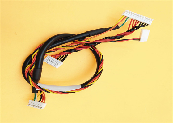 ul20276 shielding electronic wire harness with 6 pin 12 pin jst zh 1 5mm to  8
