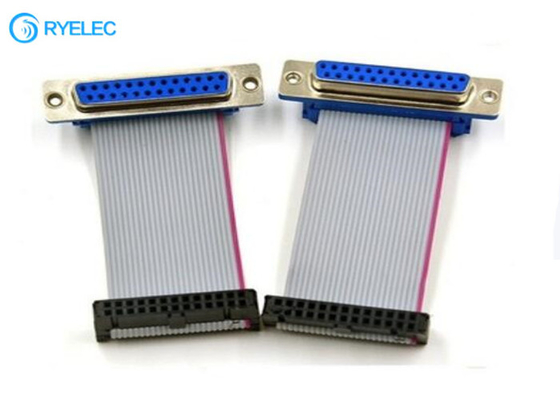 25P - DB Female Connector To 2.54mm IDC Dual Row (2*13)26 Pin Socket Ribbon Cable
