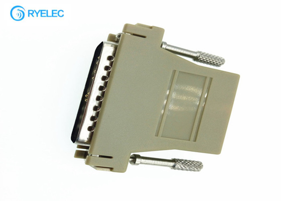 25 Pin Serial Db25 Rs232 Male To Rj45 Network Female Modular Adapter Ivory Color