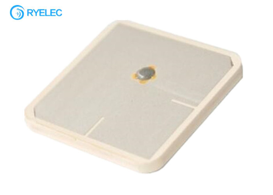 China 35*35*3mm Passive Iridium 1616-1626 Mhz Ceramic Dielectric Patch Antenna factory