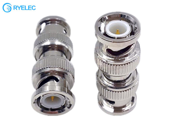 Straight Bnc Male To Bnc Male Coaxial Rf Metal Material Male Adapter