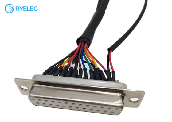 DB25 Micro D - Sub Adapter Female To Molex 1.5mm Pitch 8 Pin 12 Pin 87439 1007 24 Awg Cable