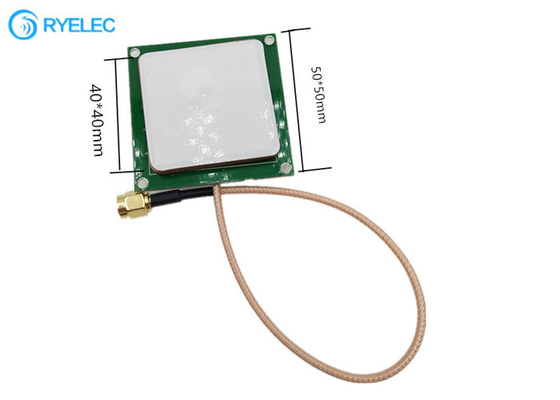RFID 868mhz Integrative Module Anti Collision Reading 3dBi Ceramic Antenna With Sma Cable
